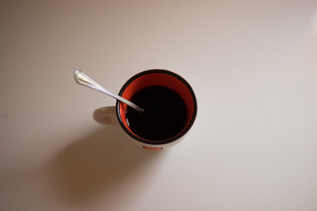 Close up of a coffee cup