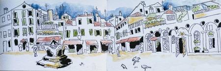 sketchbook: sketchbook venice san Zaccharia square