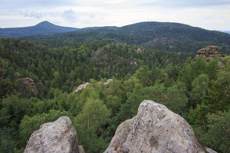saxony: Rabensteine in upper Lusatia in Saxony Stock Photo