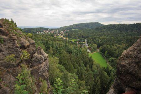 saxony: Nonnenfelsen in upper Lusatia in Saxony Stock Photo
