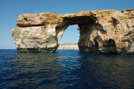 The Azure Window on the island of Gozo, Malta Stock Photo