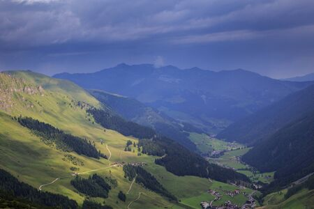 View to the Zillertal in Austrian Alps