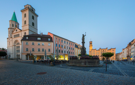 Historic old town of Zittau with St. John church