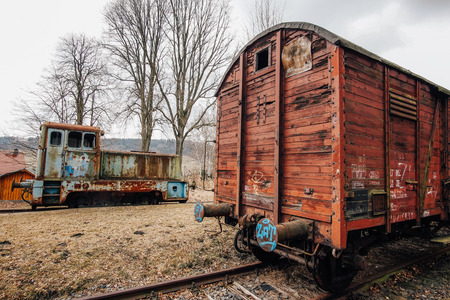 Abandoned train in Old train station