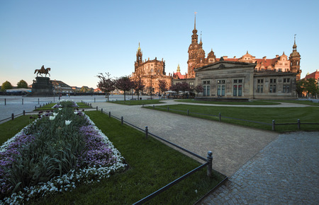 Dresden Cathedral of the Holy Trinity or Hofkirche, Dresden Castle in Dresden, Saxrony, Germany