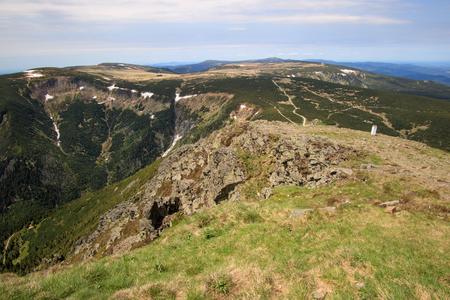 View from the highest mountain of the Czech Republic - Schneekoppe (Snezka, nie ka)