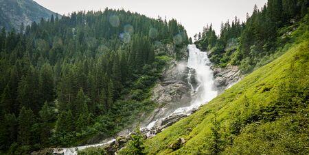 The Krimml Waterfalls in the High Tauern National Park, Salzburg, Austria 免版税图像