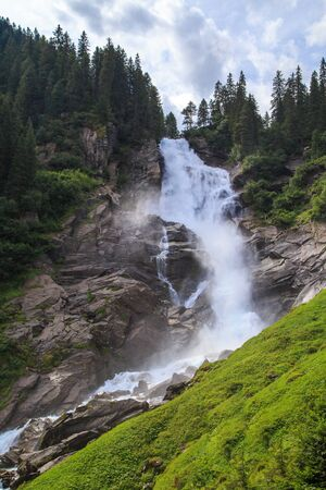 The Krimml Waterfalls in the High Tauern National Park, Salzburg, Austria 免版税图像