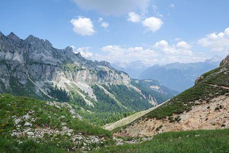 mountains over Tschager Joch, Rosengarten