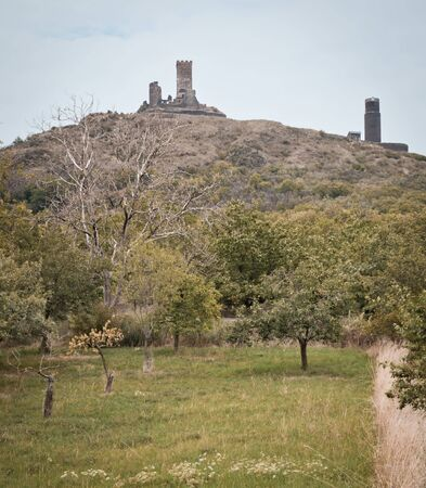view of medieval castle Hazmburk (Klapy)