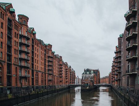 Hamburg, Germany - Speicherstadt in Hamburg Standard-Bild
