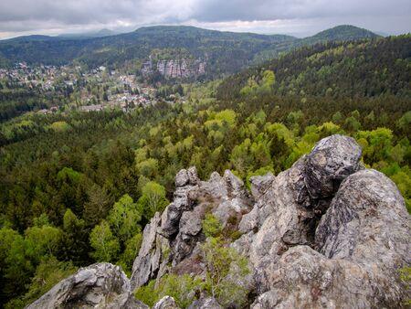 Zittau mountains, Oybin, on the Toepfer mountain saxony