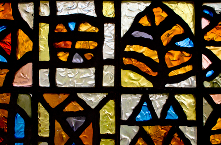 lopsided: Stained glass in the building of Kiev funicular