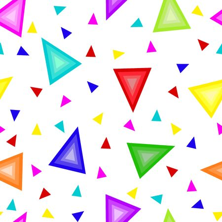 acute: Seamless texture of multi-colored triangles Illustration