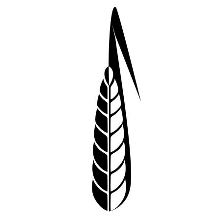 arable: Black and white logo ear of wheat