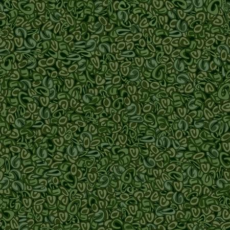 Seamless texture of Gunpowder green tea on a dark green background