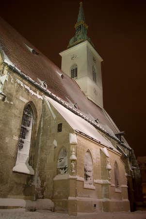 saint martin: Saint Martin cathedral Bratislava cold town 2 Stock Photo