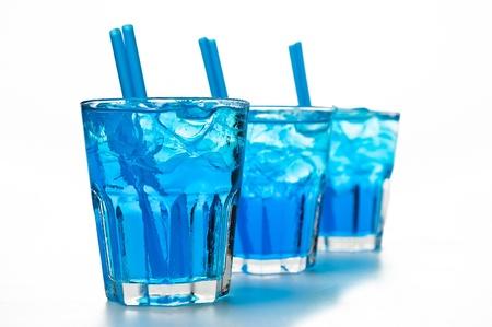 blue cocktails Stock Photo
