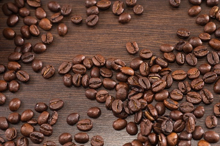 stimulated: Many coffee beans to grind Stock Photo