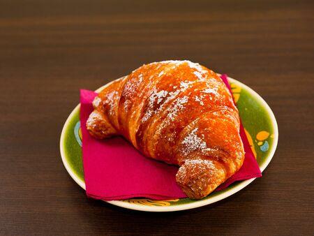 breackfast: Freshly baked croissant for breackfast