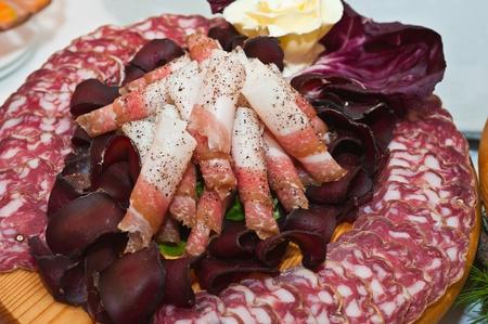 carnes: plato de carne troceada???Italiano