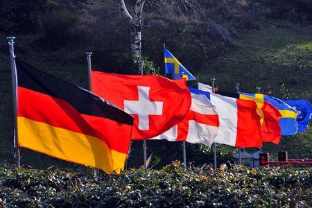 einrollen: Europ?ische Flaggen Lizenzfreie Bilder