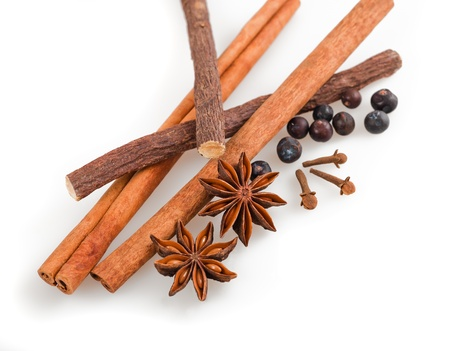 licorice: Mix of spices and licorice isolated