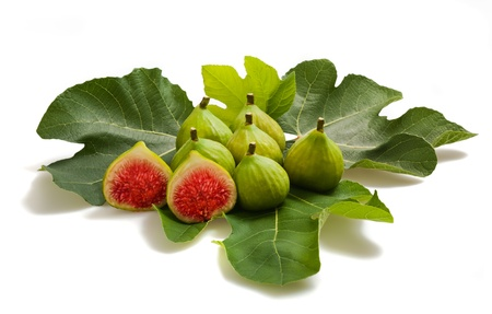 Group of figs isolated on white