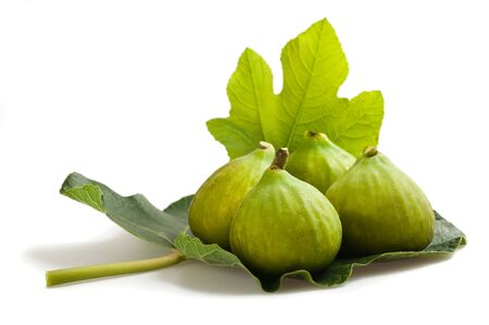 fico: Group of figs isolated on white
