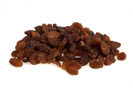 raisins: Sultana raisins isolated on white