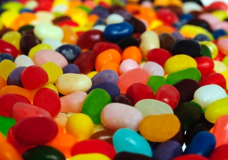 jelly beans: Sfondo di un jelly bean Archivio Fotografico