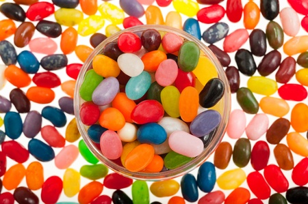 jelly beans: Multi-colored  jelly beans mix Stock Photo
