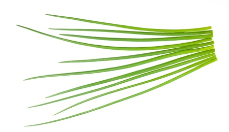 chives: Chives bunch  isolated on white
