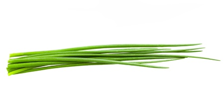 Chives bunch  isolated on white