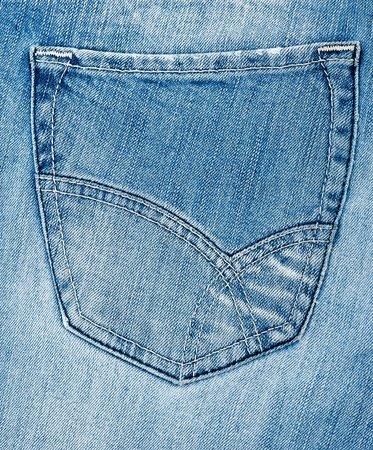 Denim blue jeans back pocket details photo