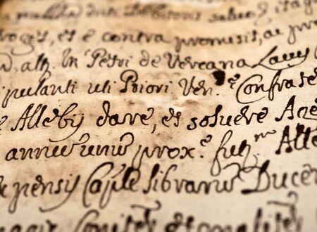 Abstract handschrift op oude vintage papier