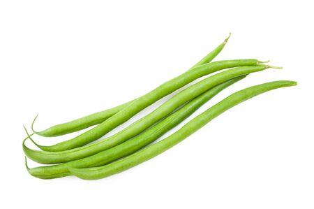 fagiolini: Green Beans isolated on white Stock Photo