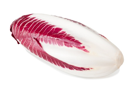 radicchio: red chicory isolated on white