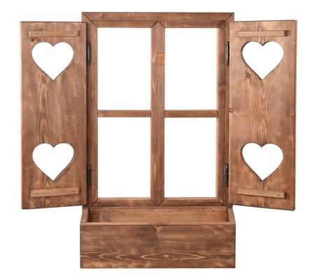 window with door with hearts photo