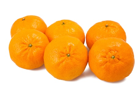 Grouop of  mandarins isolated on white Stock Photo - 17179888