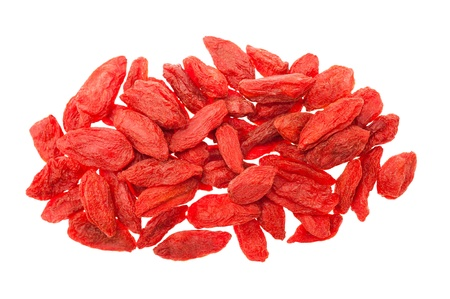Goji berries isolated on white photo