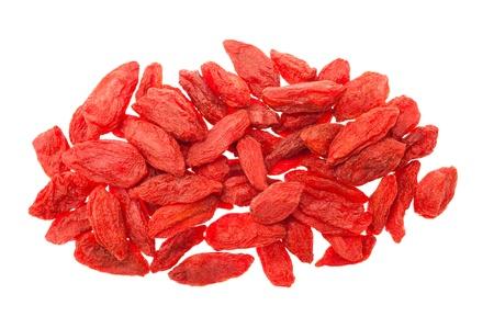 goji berry: Goji berries isolated on white Stock Photo