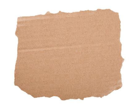 cardboard piece on white background photo