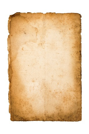old paper: Dirty old paper isolated on white