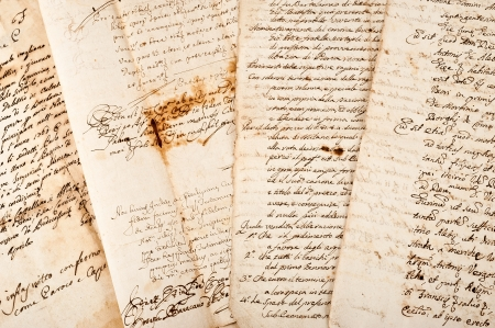 old papers: 4 manuscripts of the 17001800 century