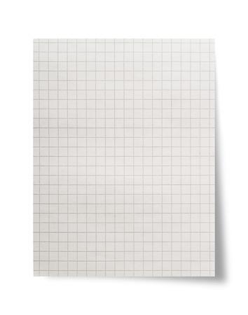 Paper sheet on white background photo