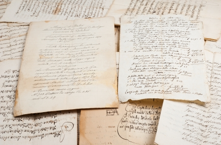 manuscripts of the 1700 1800 century Stock Photo - 18163011
