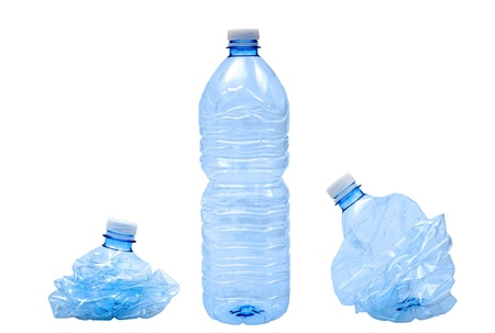 waste products: Plastic bottles isolated on white