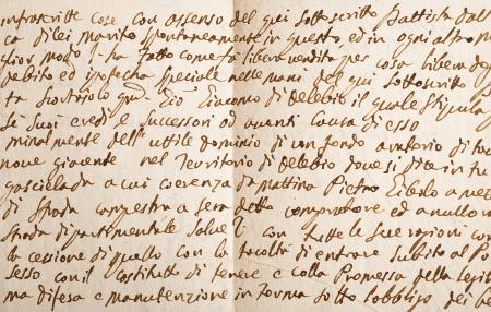 cursive: Old manuscript isolated on white