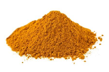curcumin: Curcuma powder isolated on white